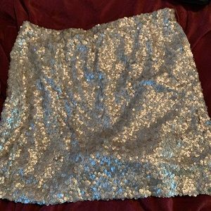 New York and company gold sequin skirt xl